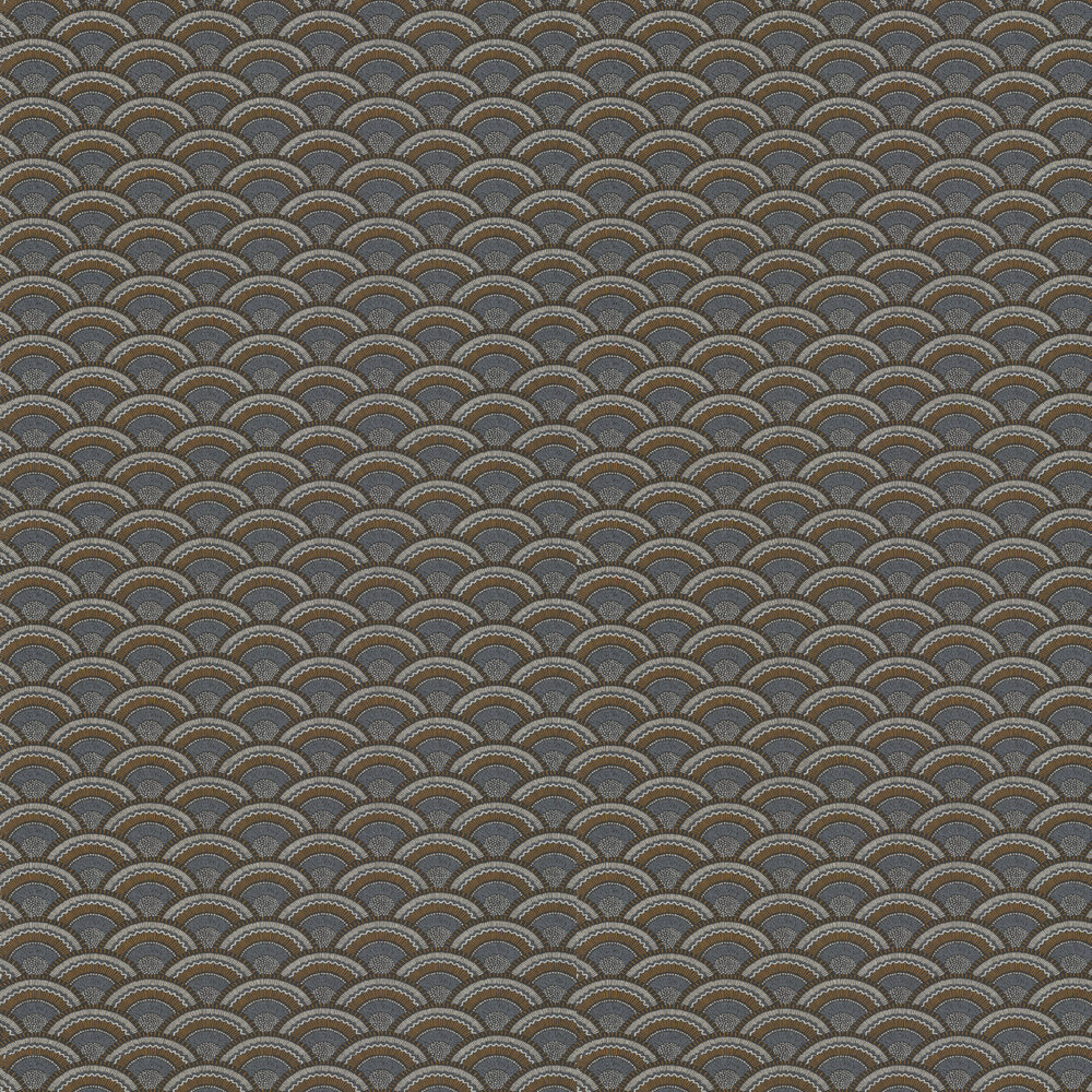 Otto Wallpaper - Carbone / Dore - by Casamance
