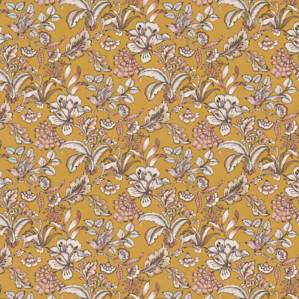 Paiony Wallpaper - Moutarde - by Casamance