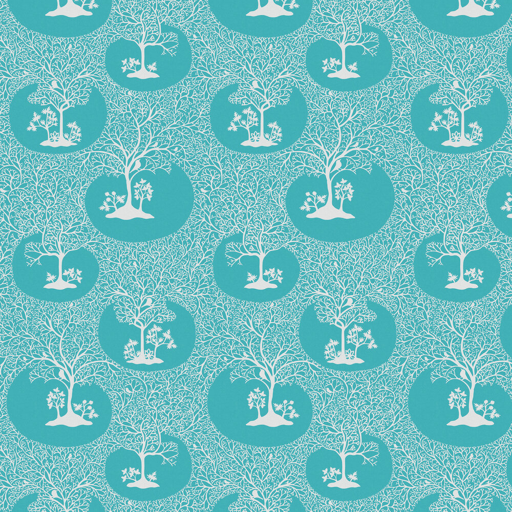 Magical Forest Wallpaper - Azure - by Sacha Walckhoff x Graham & Brown