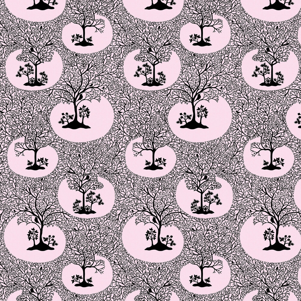 Magical Forest Wallpaper -  Rose - by Sacha Walckhoff x Graham & Brown