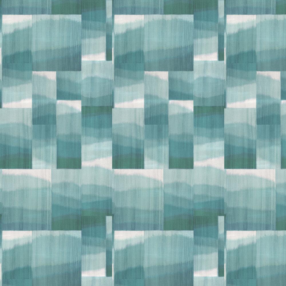 Kirigami Wallpaper - Teal - by Osborne & Little