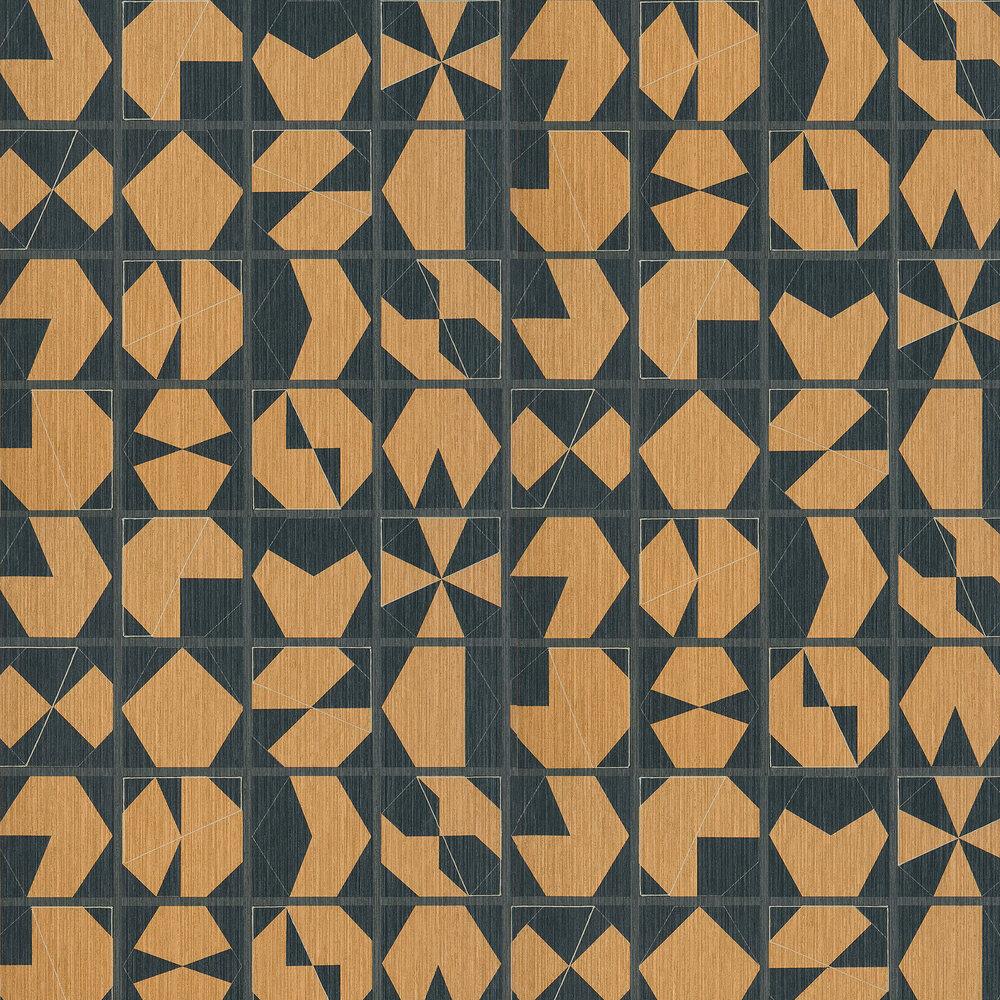 Kutani Vinyl Wallpaper - Copper/ Slate - by Osborne & Little