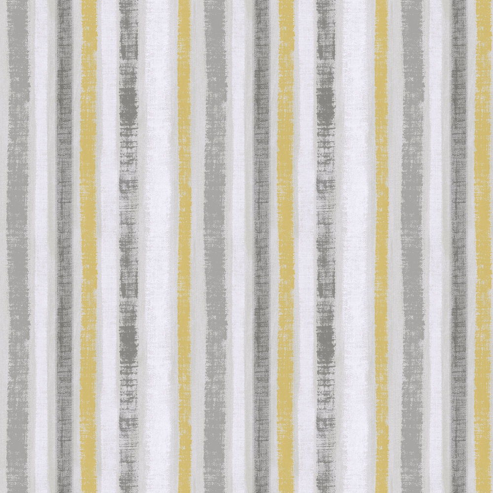 Painted Stripe Wallpaper - Ochre / grey - by Arthouse