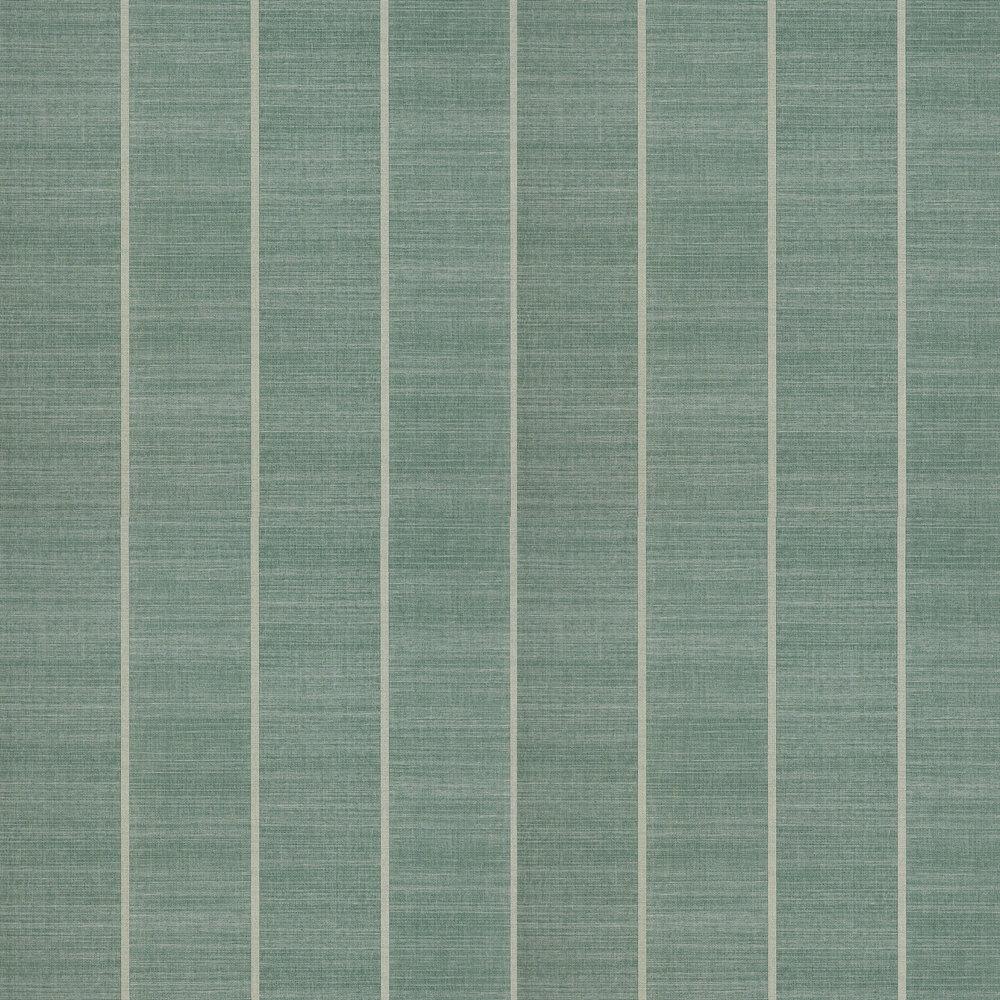 Shoji Vinyl Wallpaper - Aqua - by Osborne & Little