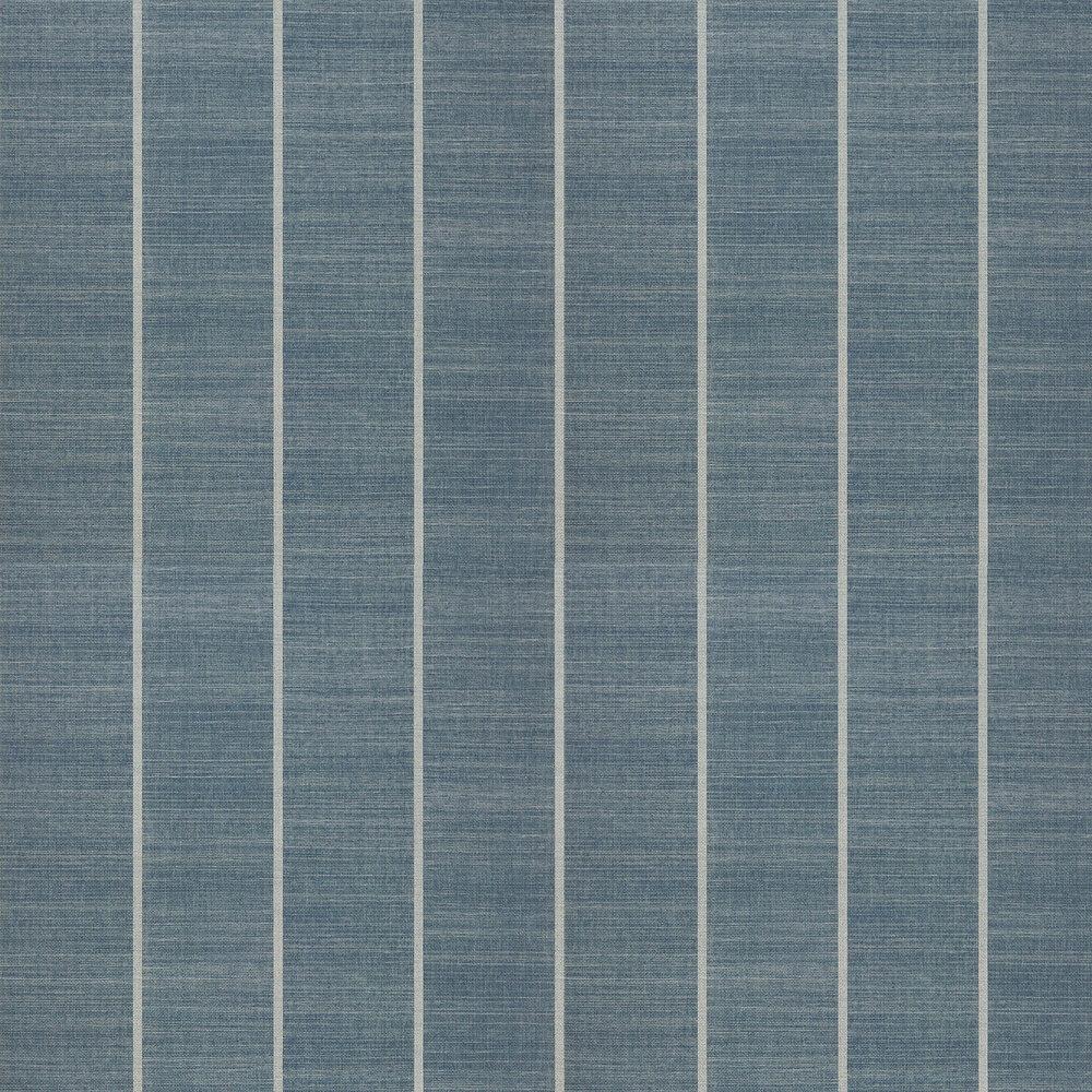 Shoji Vinyl Wallpaper - Indigo - by Osborne & Little