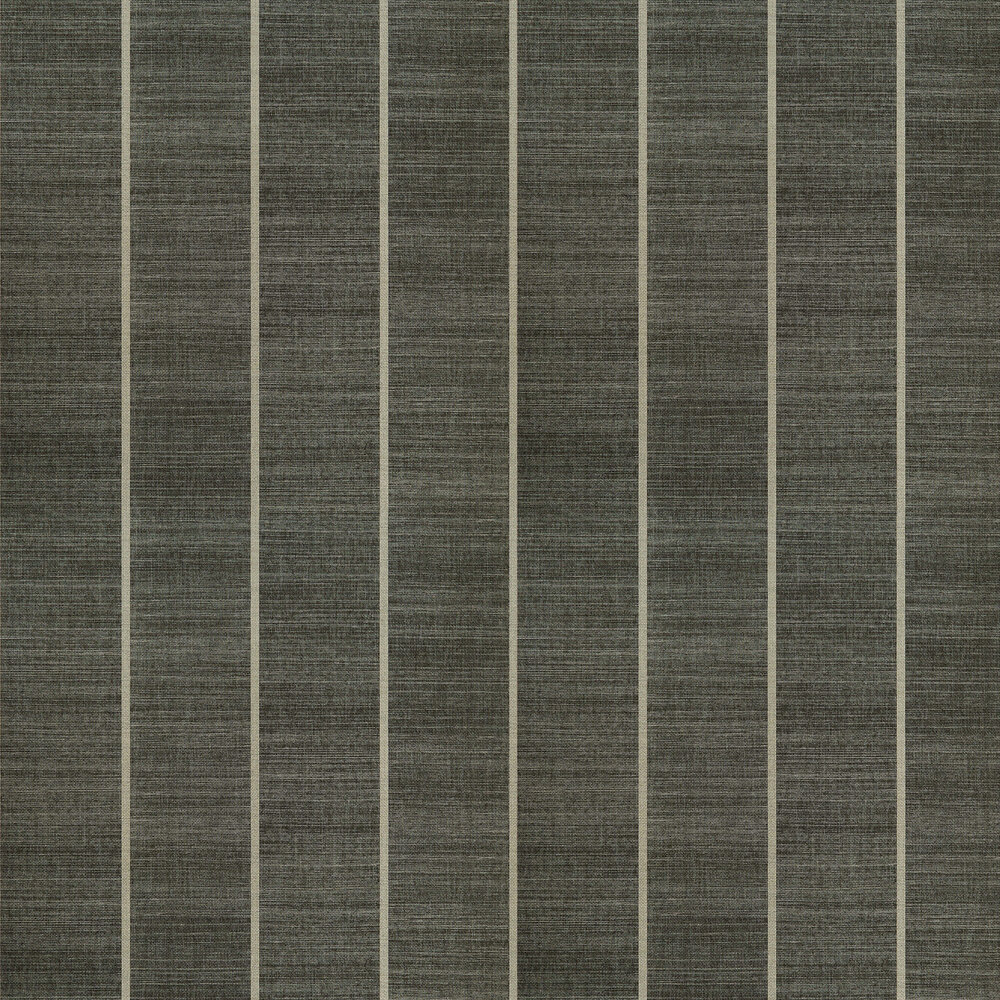 Shoji Vinyl Wallpaper - Charcoal - by Osborne & Little