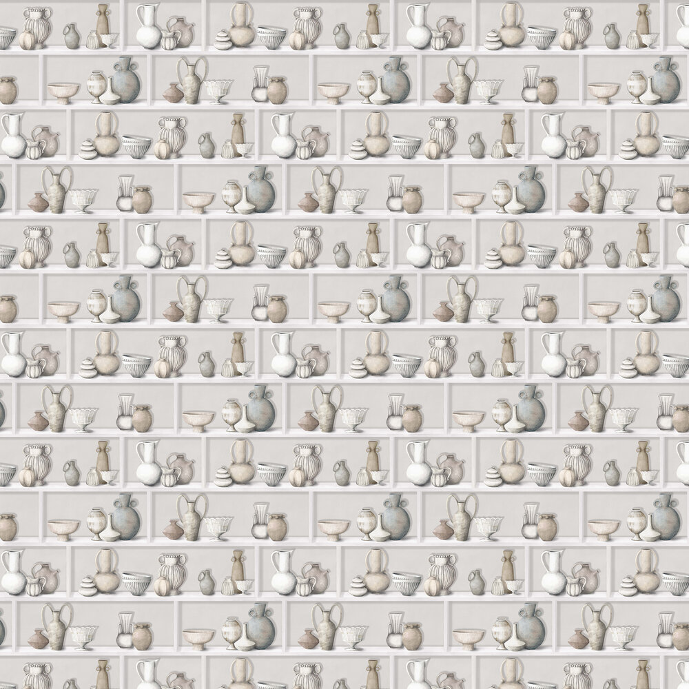 Raku Wallpaper - Ivory/ Stone - by Osborne & Little