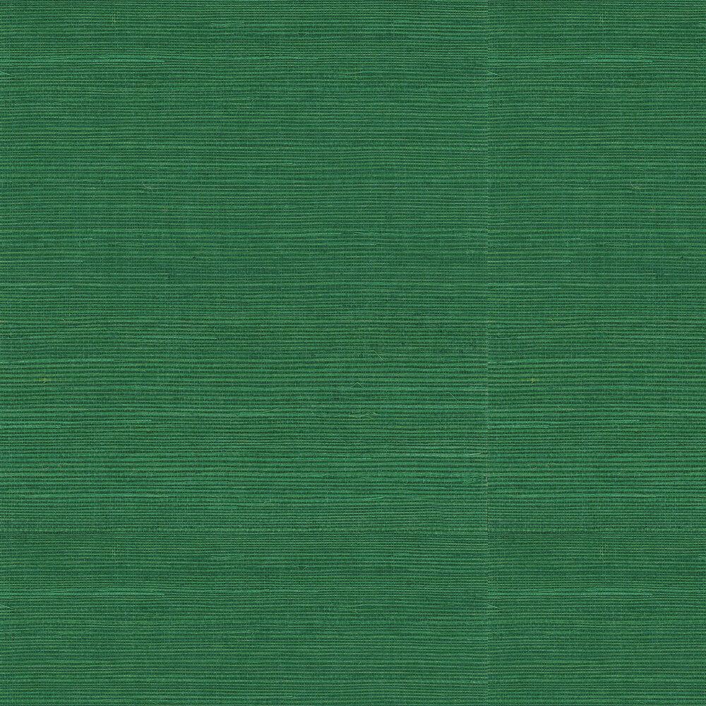 Kanoko Grasscloth Wallpaper - Emerald - by Osborne & Little