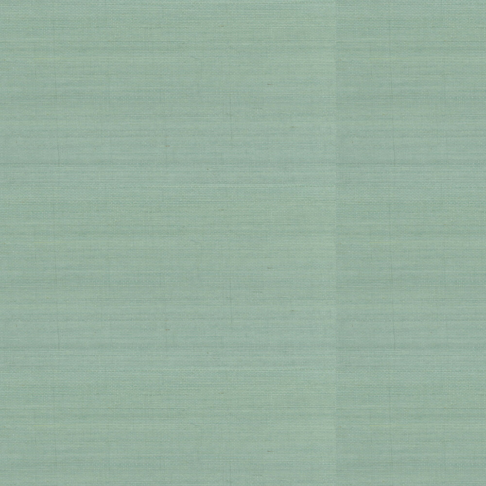Kanoko Grasscloth Wallpaper - Duck Egg - by Osborne & Little