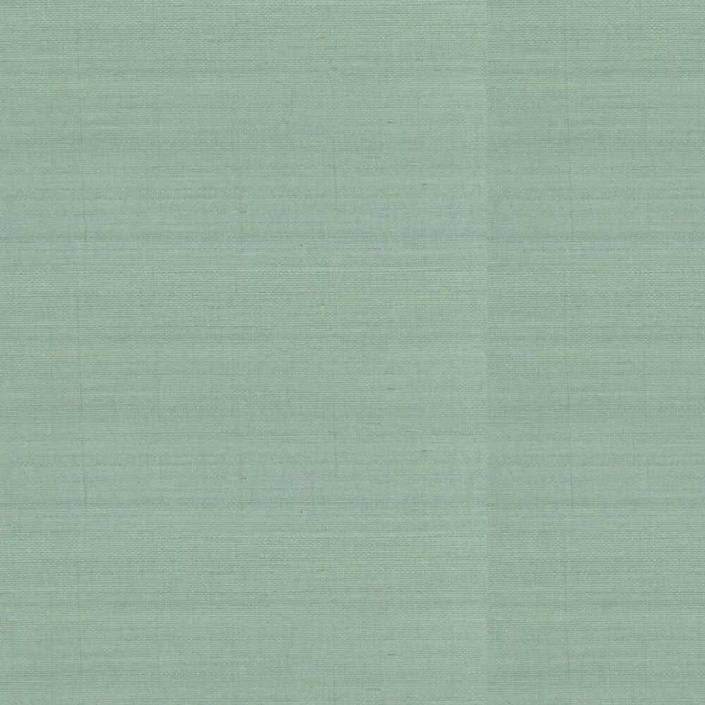 Kanoko Grasscloth Wallpaper - Duck Egg - by Osborne & Little