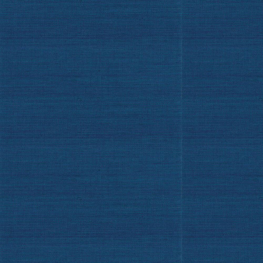 Kanoko Grasscloth Wallpaper - Cobalt - by Osborne & Little