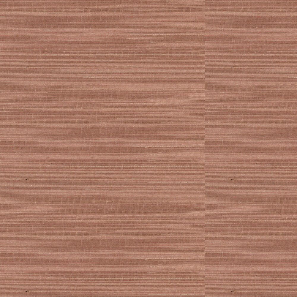 Kanoko Grasscloth Wallpaper - Terracotta - by Osborne & Little