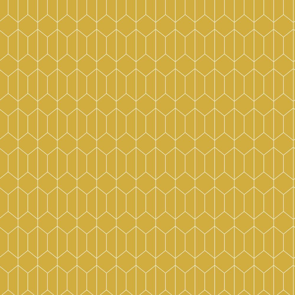 Linear Geo Wallpaper - Ochre - by Arthouse