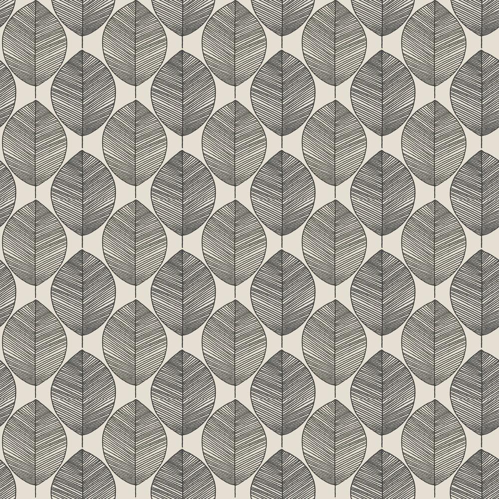 Scandi Leaf Wallpaper - Mono - by Arthouse