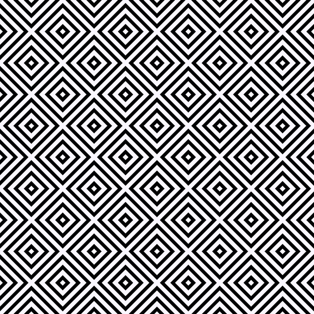 Geo Diamond Wallpaper - Mono - by Arthouse