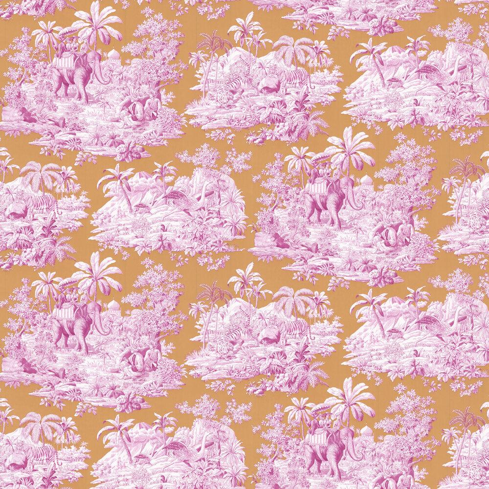 Bengale Wallpaper - Fuchsia - by Manuel Canovas