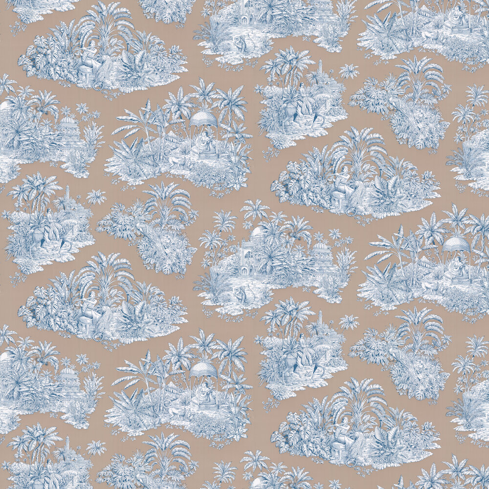 Pondichery Wallpaper - Taupe - by Manuel Canovas