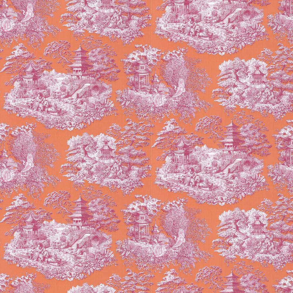 Nara Wallpaper - Abricot - by Manuel Canovas