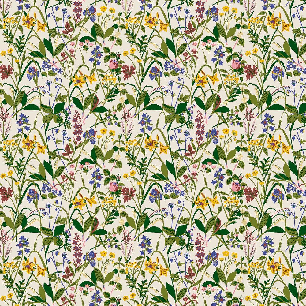 Ros och Lilja Wallpaper - Multi-coloured - by Boråstapeter