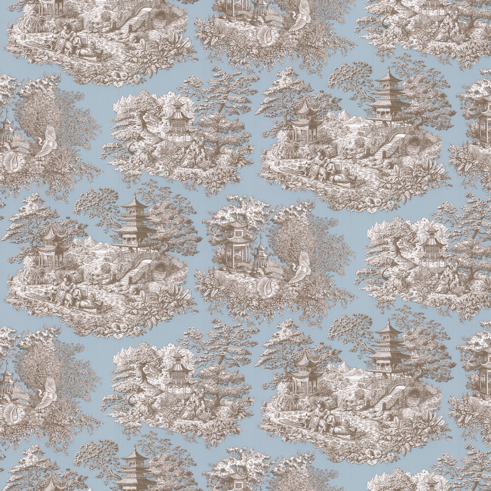 Nara Wallpaper - Celadon - by Manuel Canovas