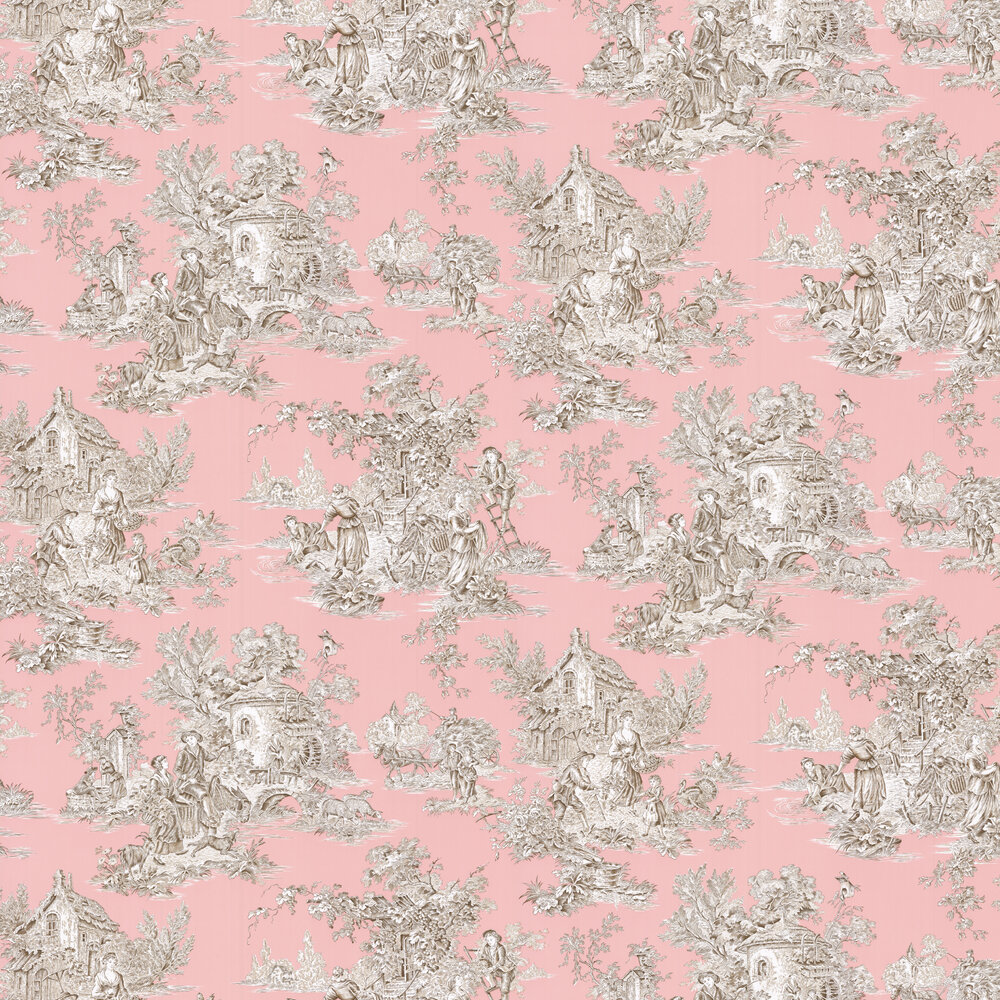 Campagne Wallpaper - Poudre - by Manuel Canovas