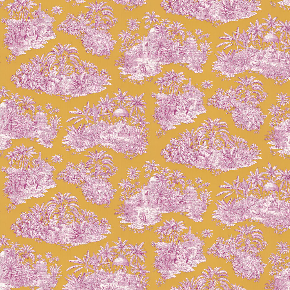 Pondichery Wallpaper - Or - by Manuel Canovas