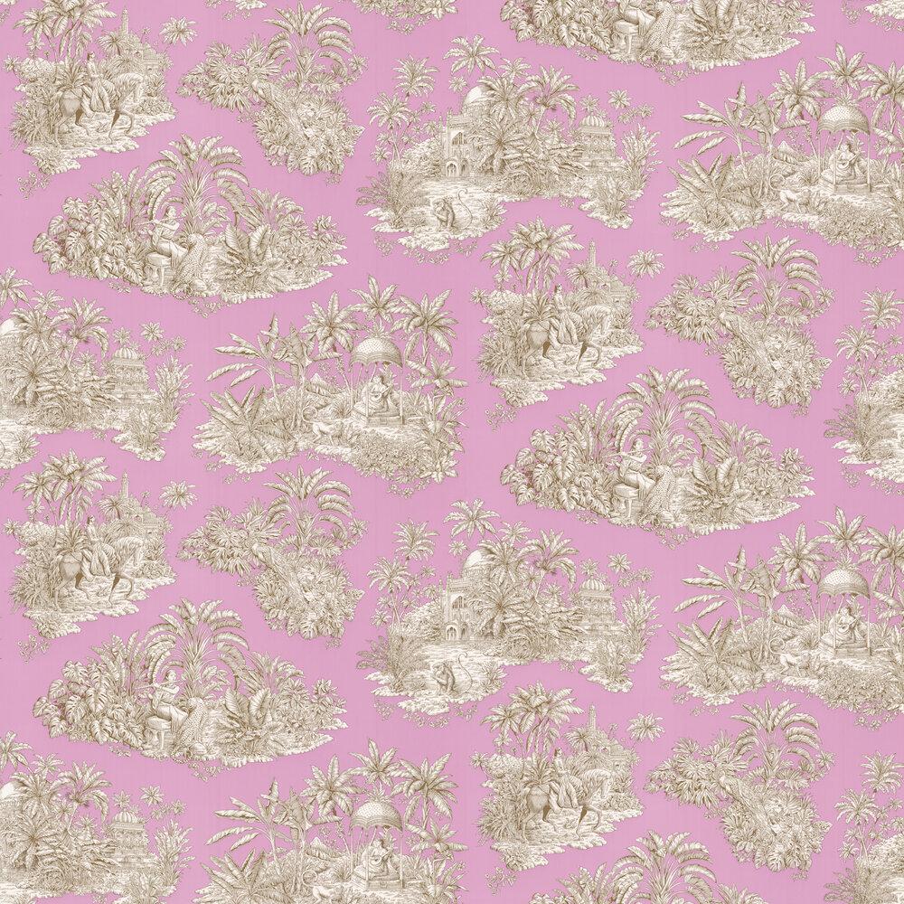 Pondichery Wallpaper - Lilas - by Manuel Canovas