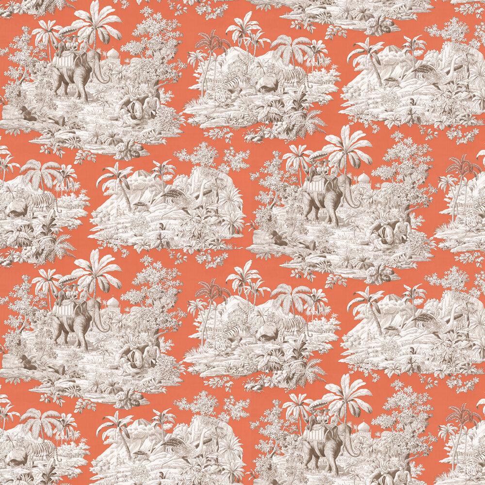 Bengale Wallpaper - Corail  - by Manuel Canovas
