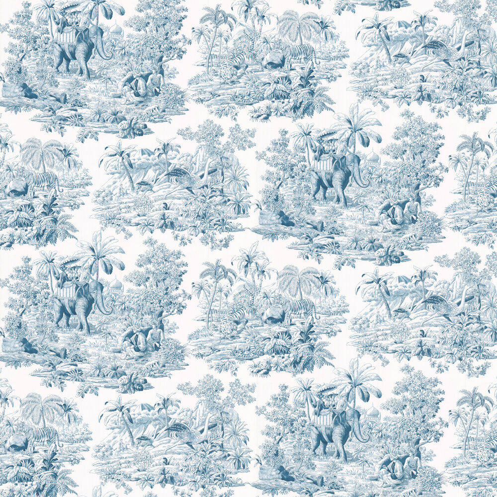 Bengale Wallpaper - Paon - by Manuel Canovas