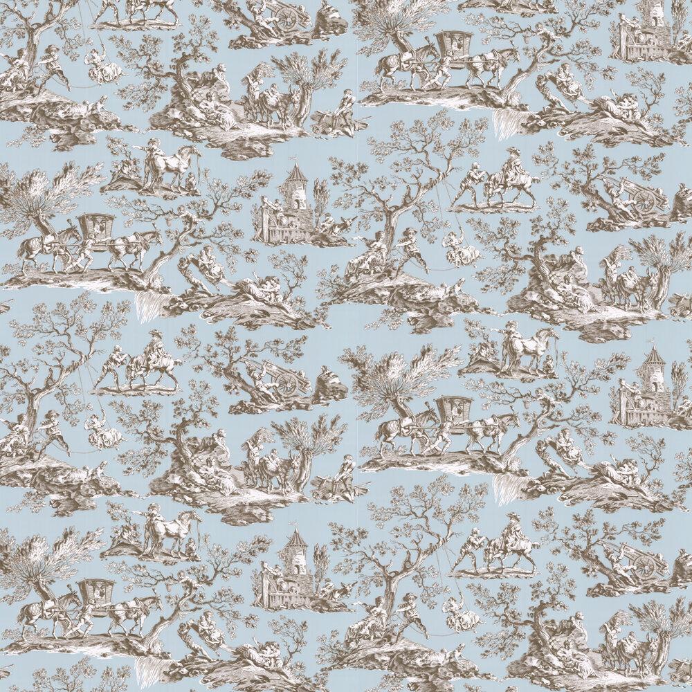 La Musardiere Wallpaper - Celadon  - by Manuel Canovas