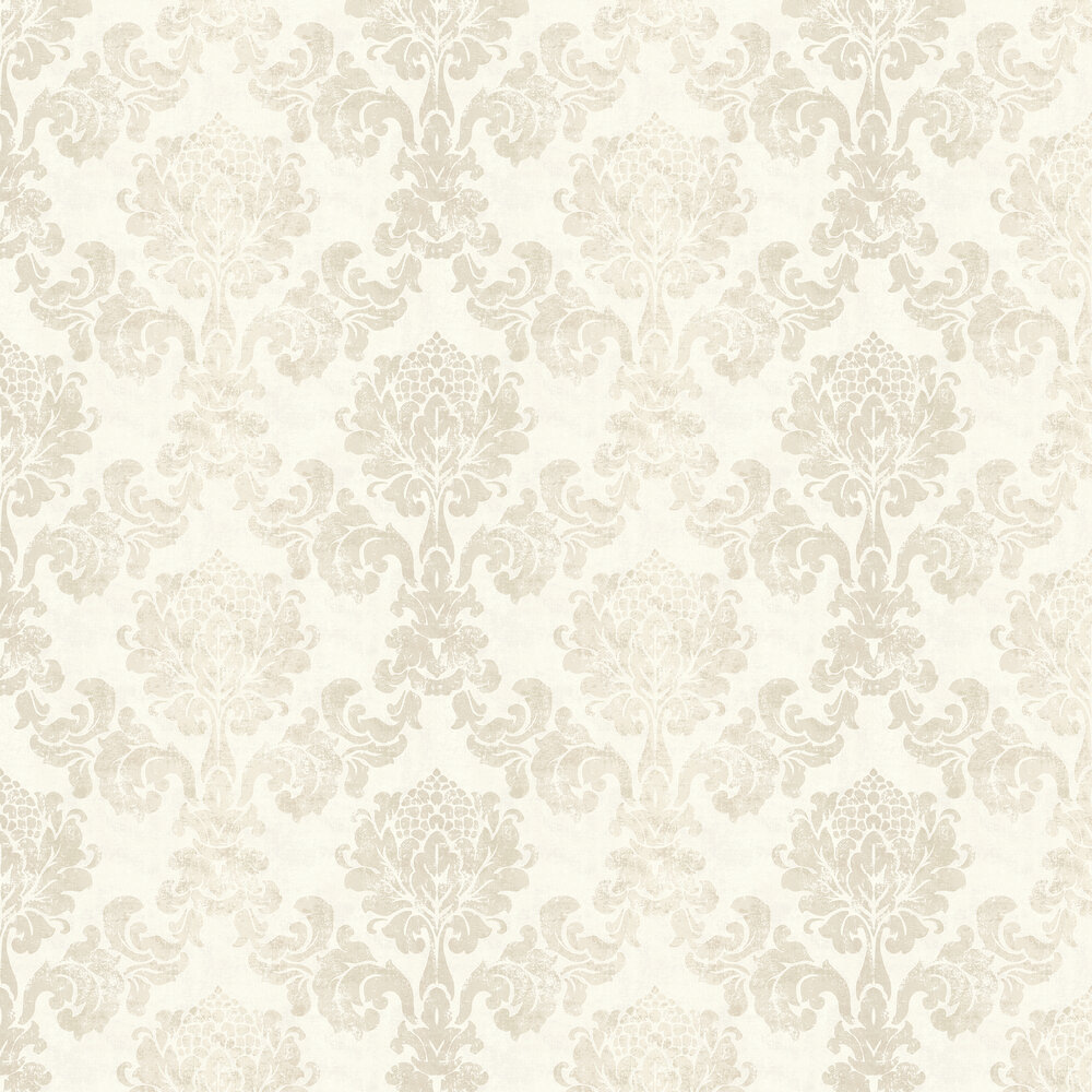 Lindfield Wallpaper - Cream - by Elizabeth Ockford
