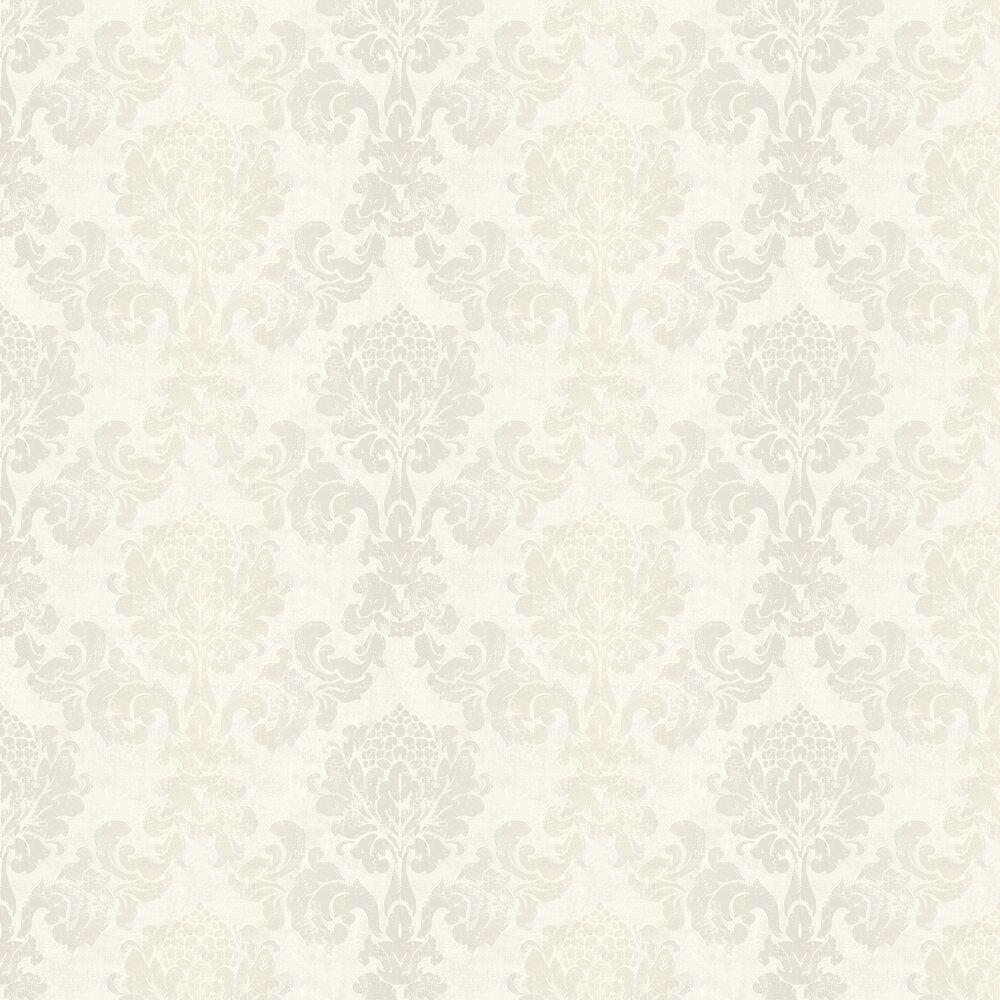 Lindfield Wallpaper - White - by Elizabeth Ockford