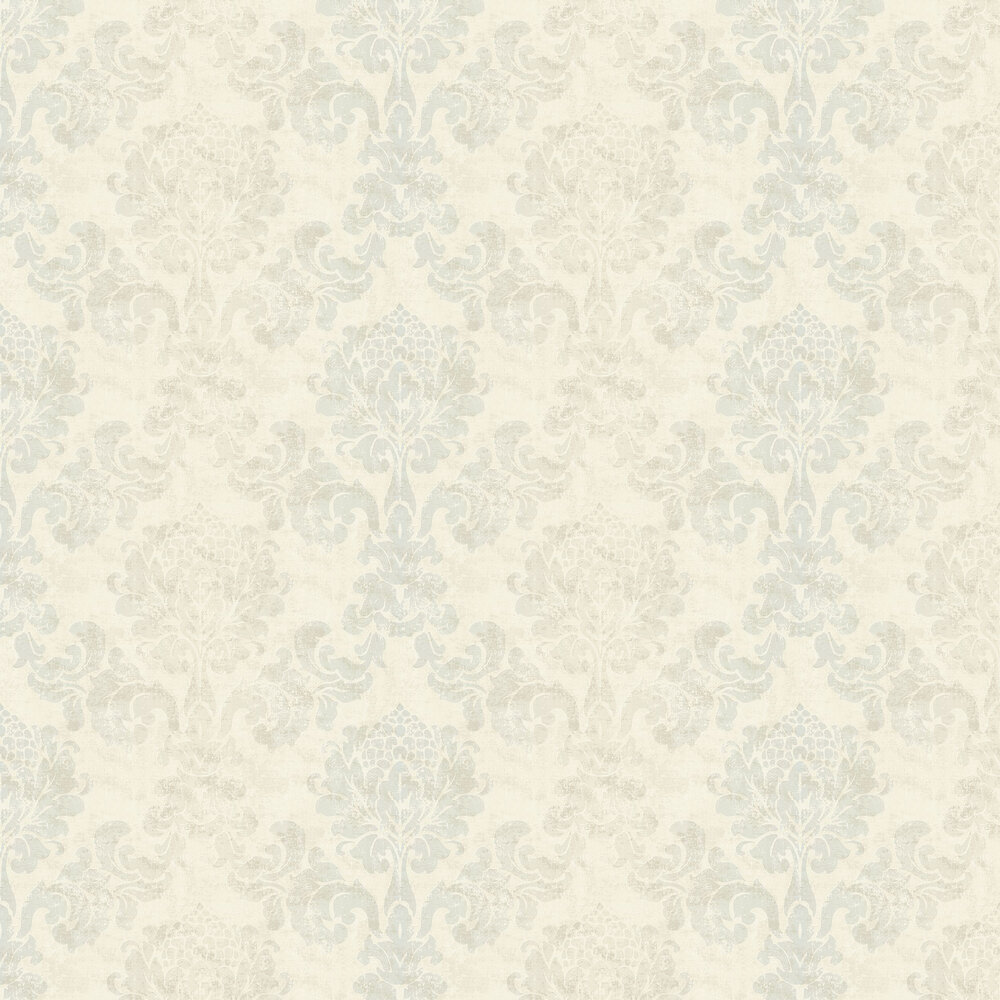 Lindfield Wallpaper - Water / Cream - by Elizabeth Ockford