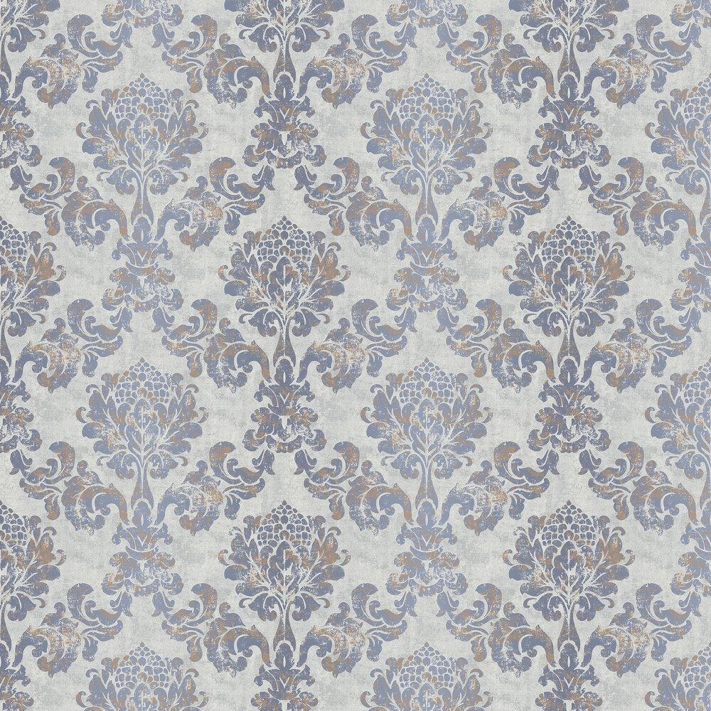 Lindfield Wallpaper - Dark Blue - by Elizabeth Ockford