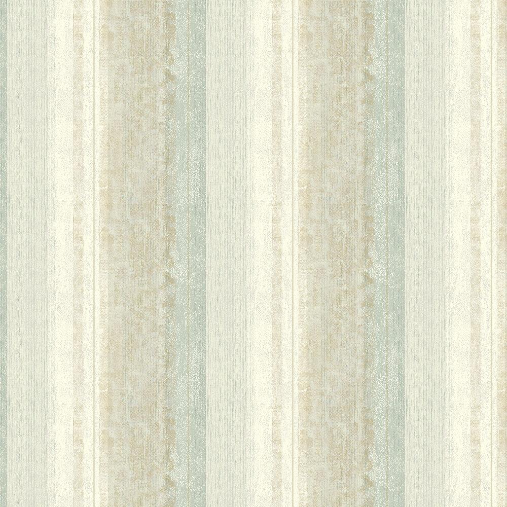 Newick Wallpaper - Aqua - by Elizabeth Ockford