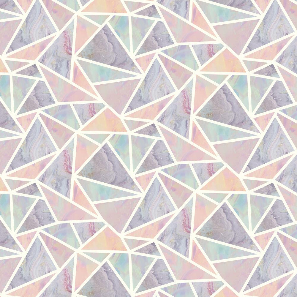 Pastel Geo Wallpaper - Multi - by Arthouse