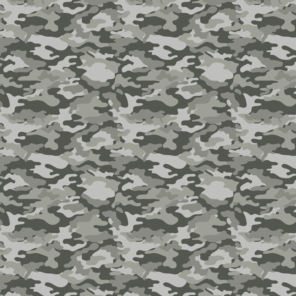 Camo Wallpaper - Mono - by Arthouse