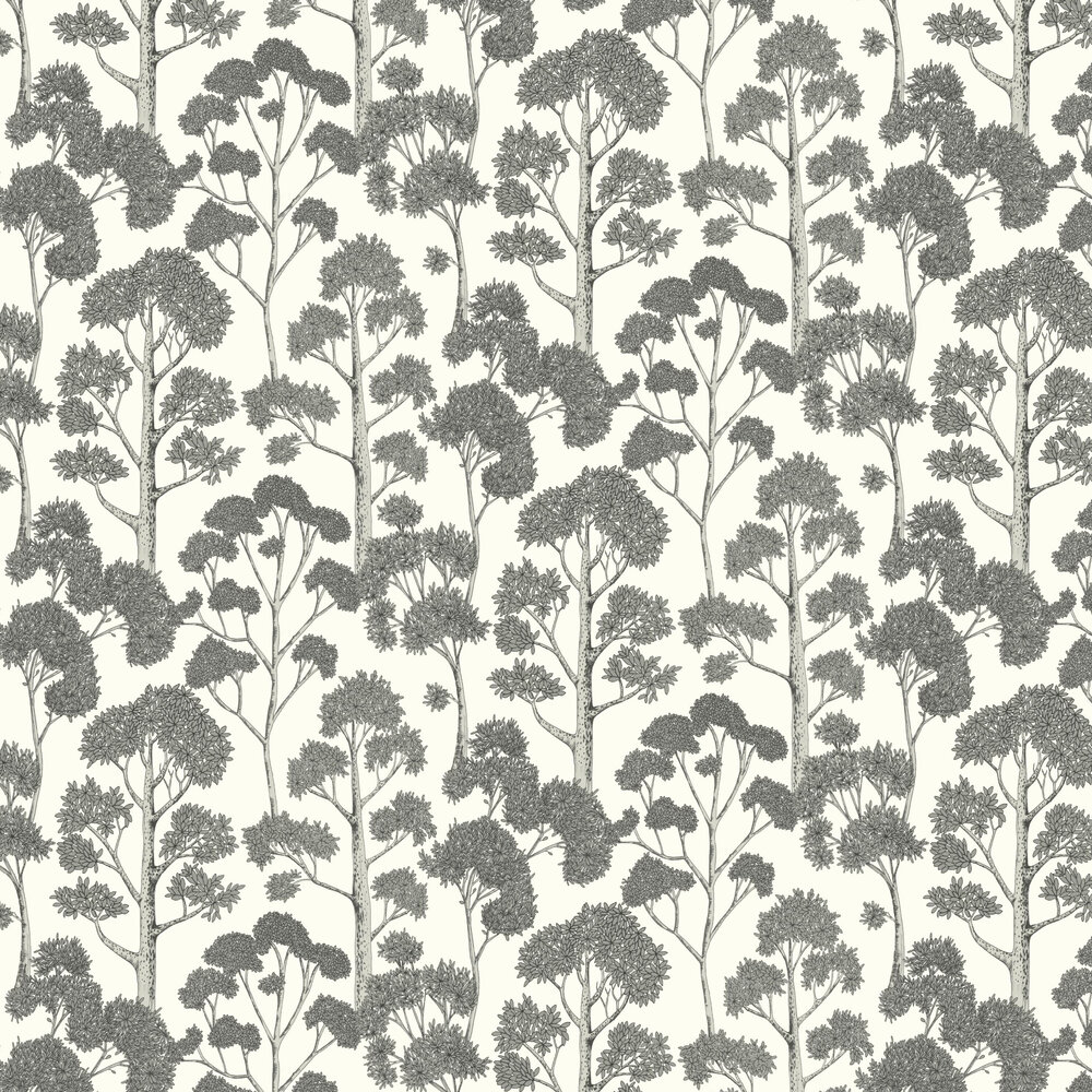 Delamere Wallpaper - White/Silver - by Arthouse