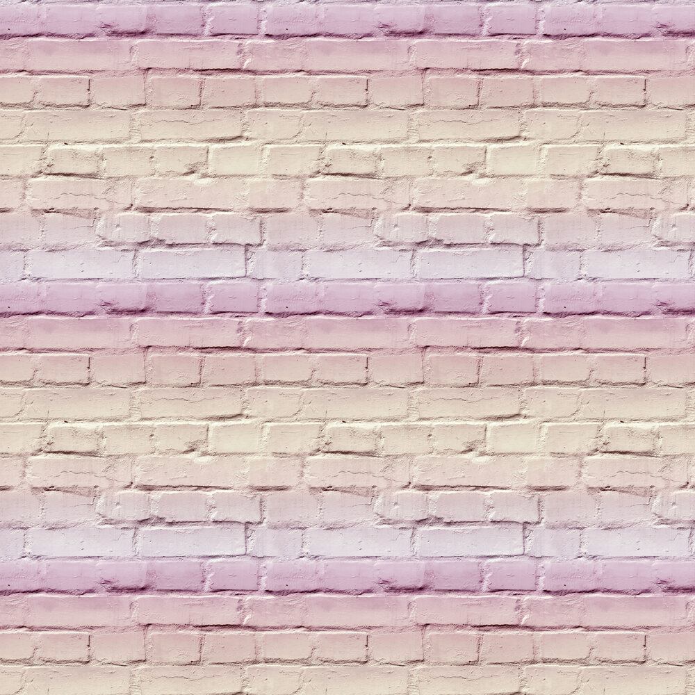 Ombre Brick Wallpaper - Pastel Pink - by Arthouse