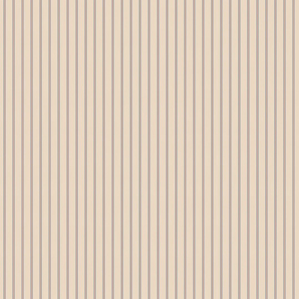Suitcase Stripe Wallpaper - Blush / Maroon - by Ted Baker