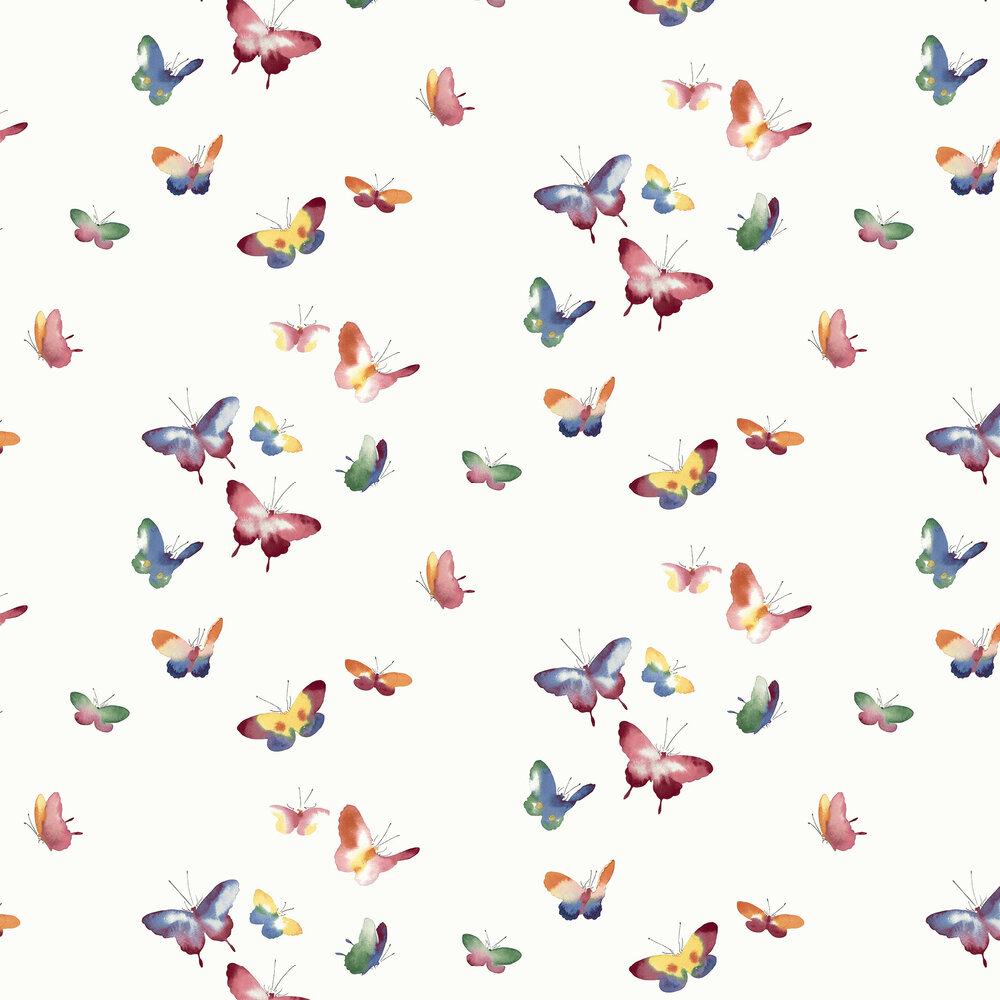 Kamala Wallpaper - Rainbow - by Elizabeth Ockford