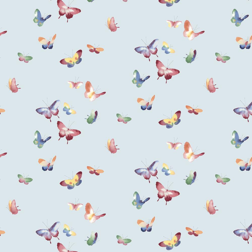 Kamala Wallpaper - Sky Blue - by Elizabeth Ockford