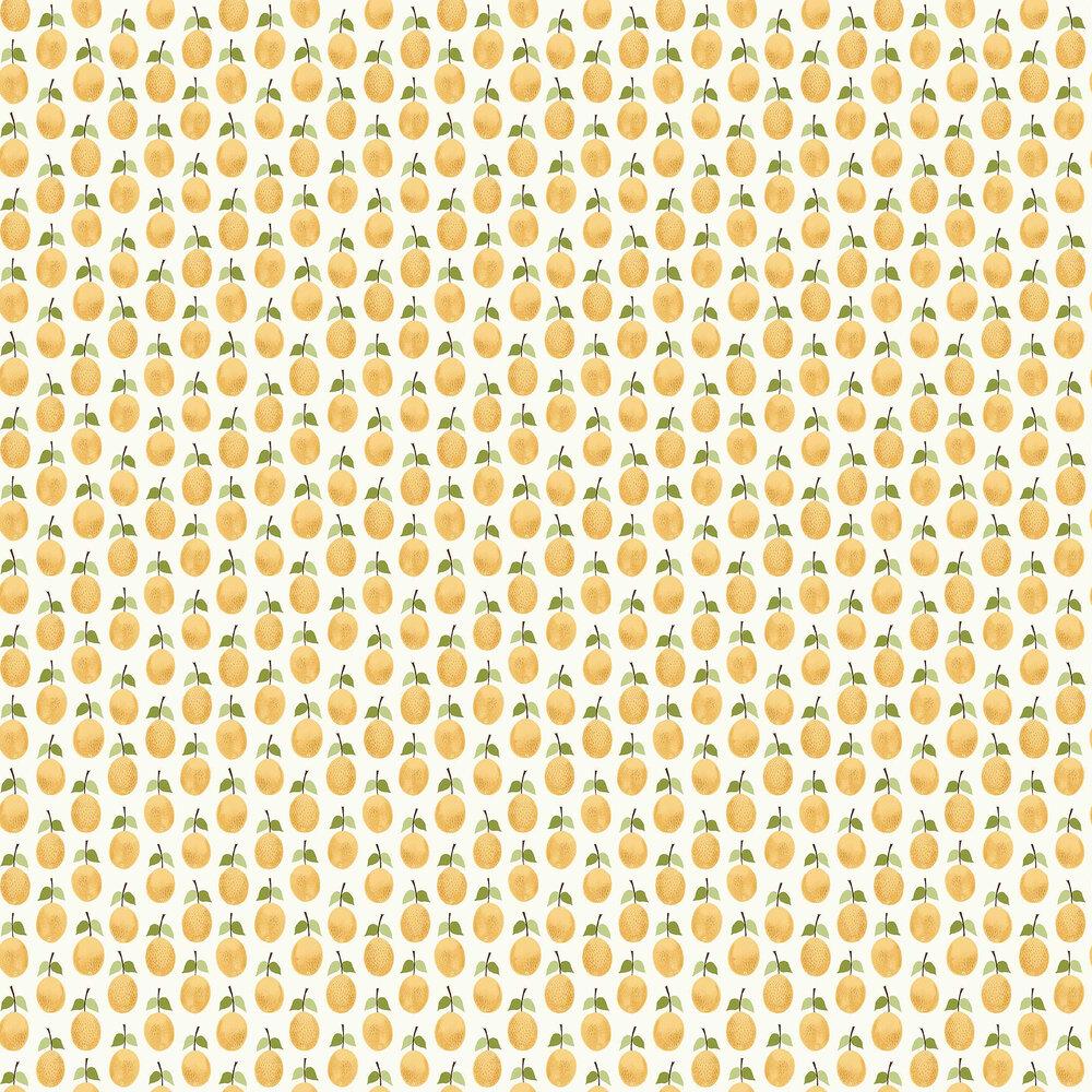 Prunus Wallpaper - Yellow - by Boråstapeter