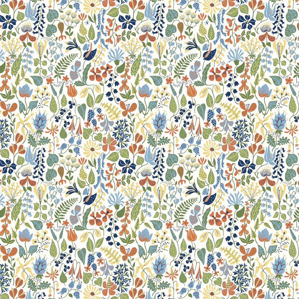 Herbarium Wallpaper - Multi-coloured - by Boråstapeter