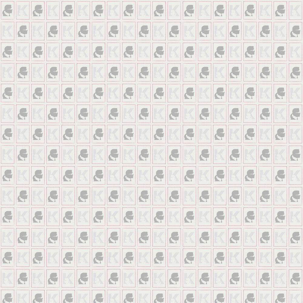Kameo Wallpaper - White - by Karl Lagerfeld