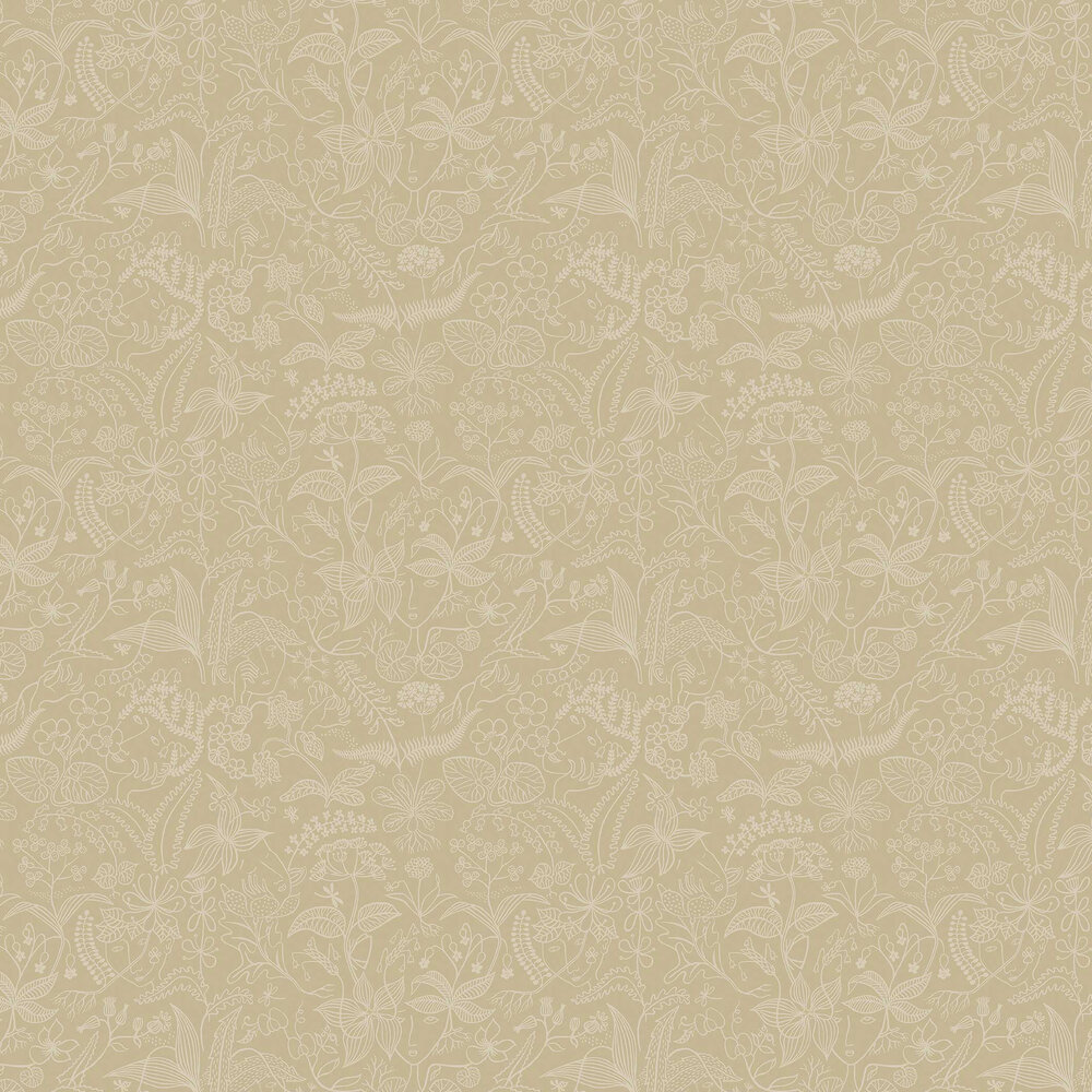 Grazia Wallpaper - Beige - by Boråstapeter