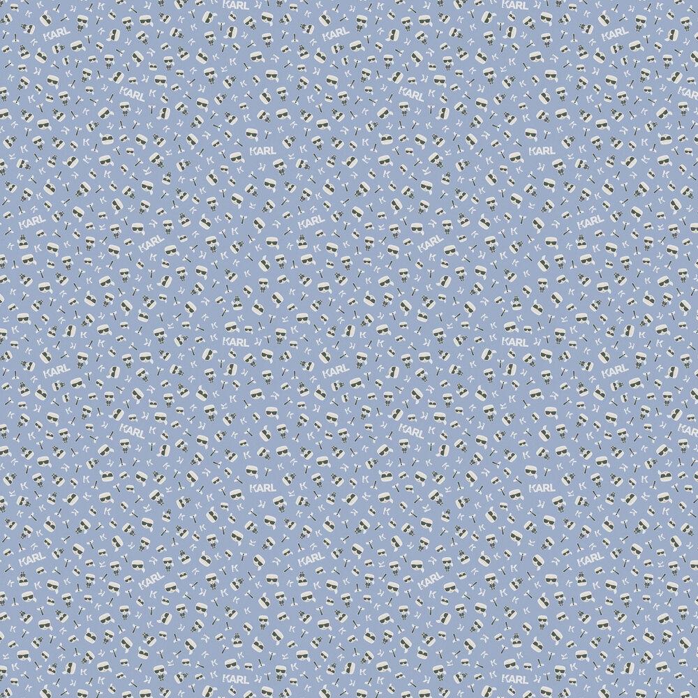 Ikonik Wallpaper - Blue - by Karl Lagerfeld