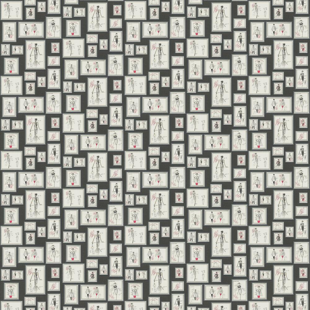 Sketch Wallpaper - Black - by Karl Lagerfeld