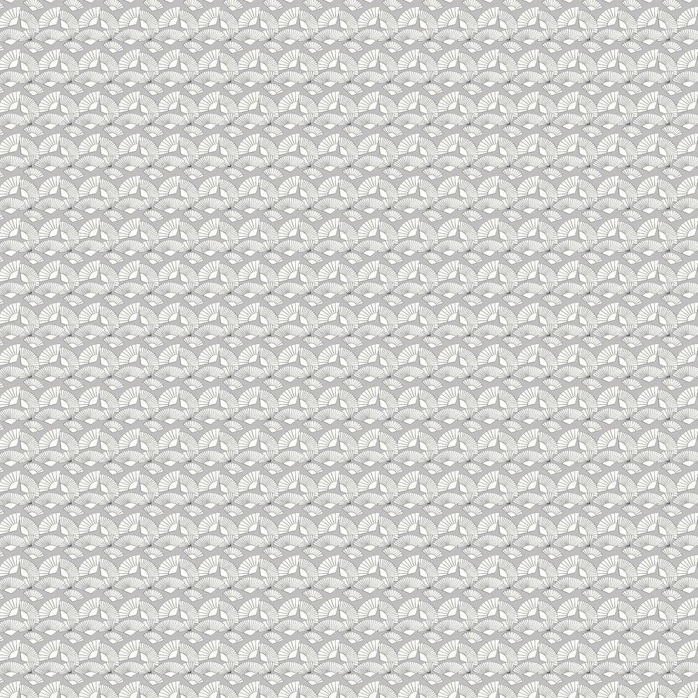 Fan Wallpaper - Grey - by Karl Lagerfeld