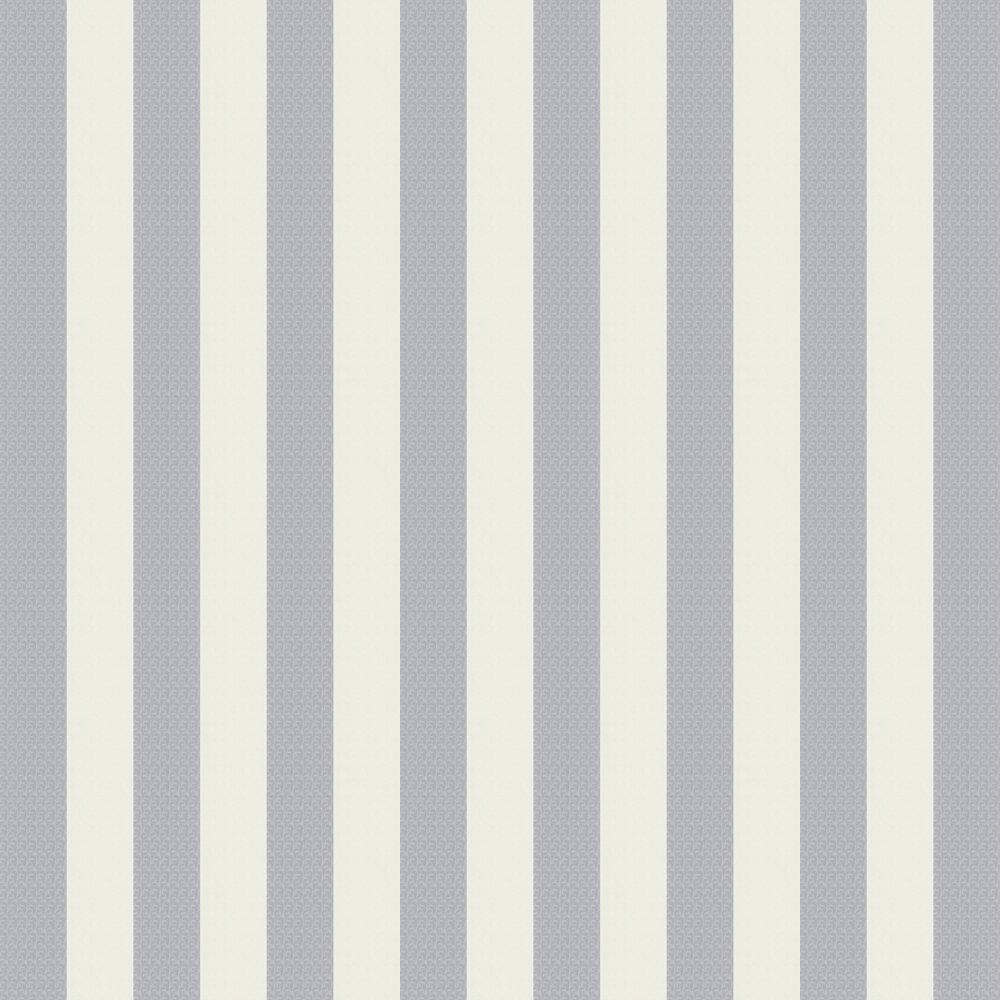 Stripes Wallpaper - Slate Blue - by Karl Lagerfeld